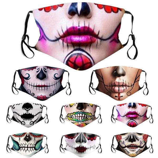 mouthmuffle, skull, unisex, Masks