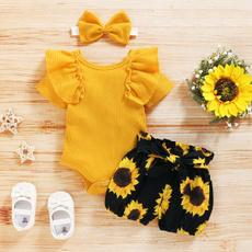 jumpsuit, Baby Girl, Shorts, ruffle