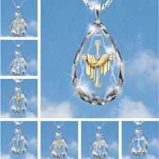crystal pendant, DIAMOND, Chain, jenu