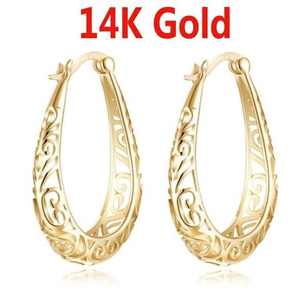 Hoop Earring, Jewelry, gold, Stud Earring