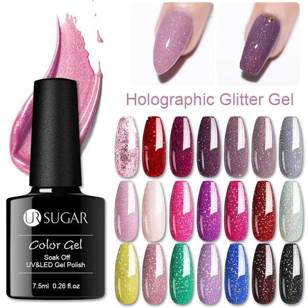 Nails, Glitter, art, Beauty