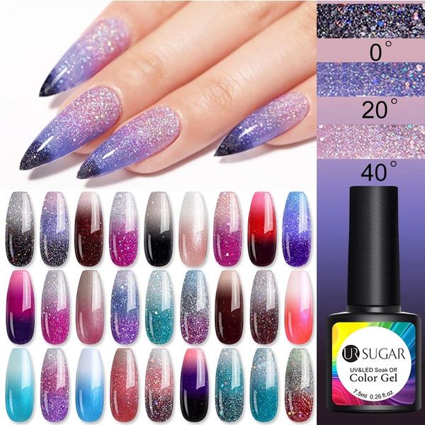 Nails, art, Beauty, rainbow