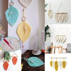 Home & Kitchen, Modern, leaf, macrametapestr