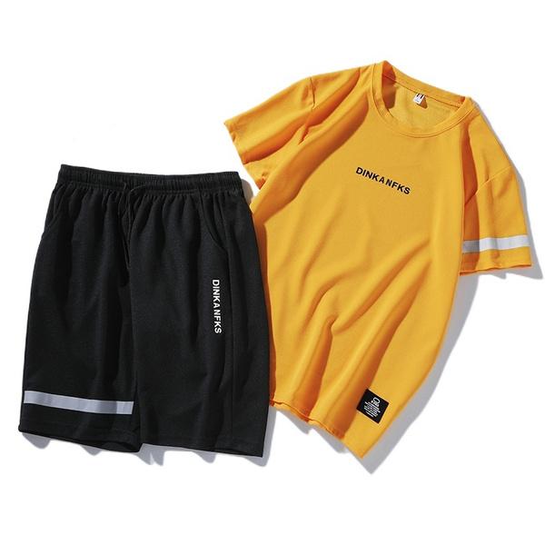 short sleeves, Summer, Set, Shirt