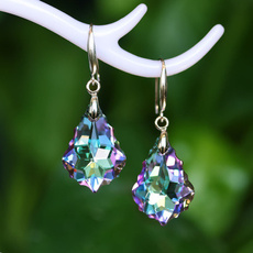 Blues, Fashion, colorfulcrystalearring, 925 silver rings