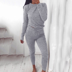 Gray, Set, Sleeve, pants