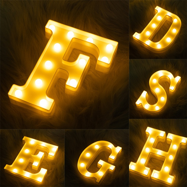 decoration, alphabetlight, ledweddinglight, Christmas