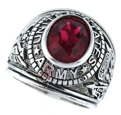 crystal ring, 925 sterling silver, Jewelry, Army