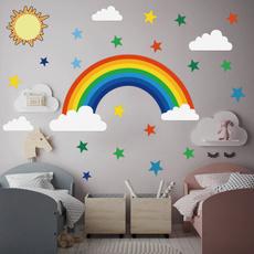 rainbow, Star, Home Decor, for girls