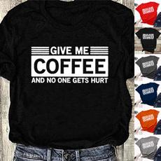 shirtsforwomen, funnylettertshirt, Coffee, Plus Size