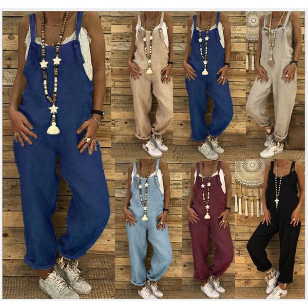 Plus Size, cottonlinen, pants, Vintage