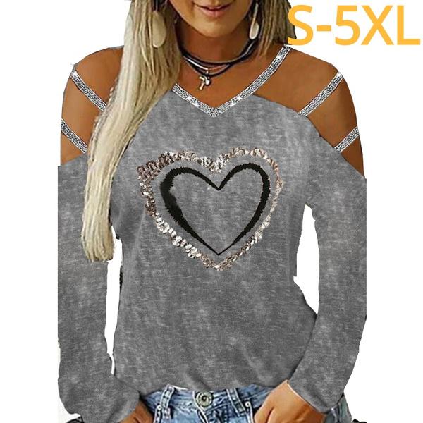 Heart, heartprint, Tops & Blouses, Graphic T-Shirt