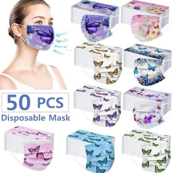 butterfly, Outdoor, mouthmask, maschera