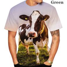 Summer, Fashion, Shirt, cow