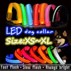Adjustable, led, dogcollarlight, Pets