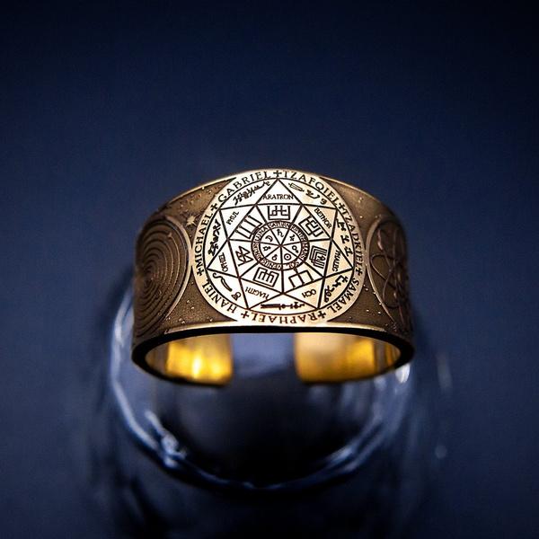 solomonring, amuletring, kabbalahjewelry, Angel