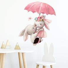 cartoonelephantwallsticker, cute, childrensroomdecoration, Home Decor