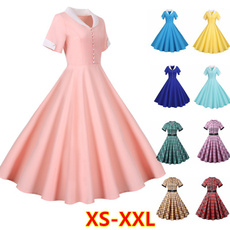 Fashion, chiffon, Swing dress, Spring