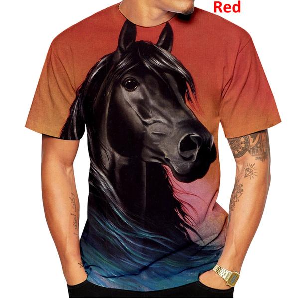 Summer, horse, Plus Size, Shirt