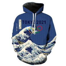 3D hoodies, hooded, Casual sweater, streetfashion