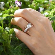 Sterling, White Gold, DIAMOND, wedding ring