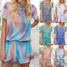 Summer, Two-Piece Suits, Women's Casual Tops, Shirt