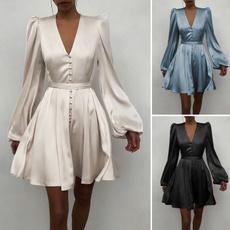 Fashion, Cocktail, Long Sleeve, Dress