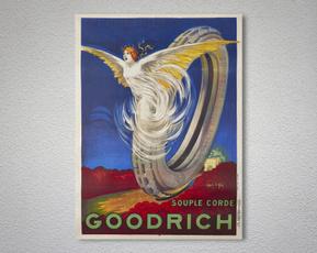 vintageposter, goodrich, partydecor, Posters
