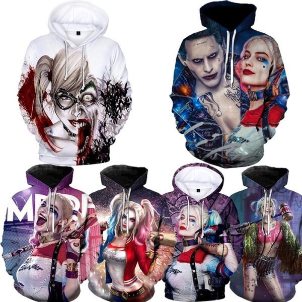 3D hoodies, Fashion, funhoodie, harleyquinn