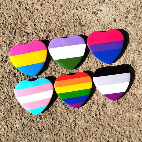 rainbow, Love, Pins, Heart