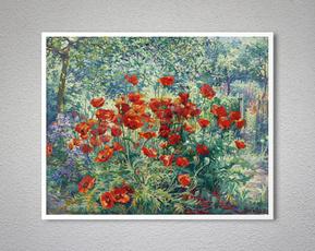 cardecor, Flowers, vintageposter, Garden
