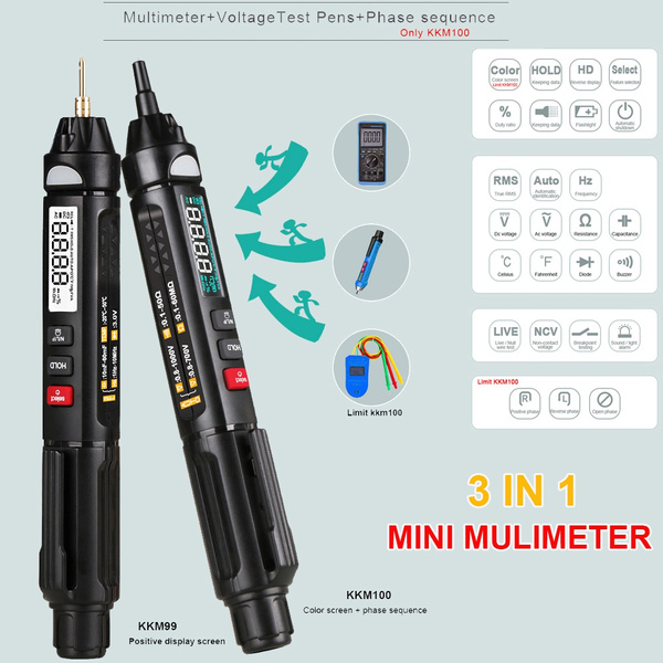 Mini, intelligentmultimeter, tester, Tool