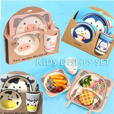 cute, spoonfork, kidsdishbowl, kidsplateset