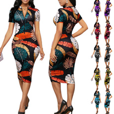 pencil, Deep V-neck Dress, long dress, women club wear