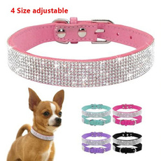 pink, Suede, Dog Collar, dogchain