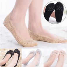 non-slip, fashion women, Cotton Socks, Lace