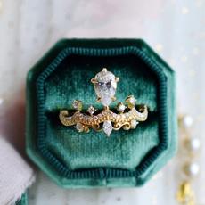 mosang, Jewelry, crownring, Diamond Ring