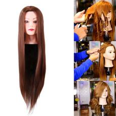 wig, brown, Head, doll
