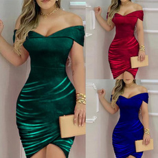 Summer, Fashion, velvet, Evening Dress