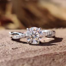 moissanite, Heart, weddingengagementring, DIAMOND
