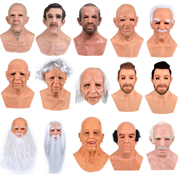latex, oldmanmask, Cosplay, Masks