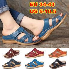 Summer, Sandals, Vintage, Buckles