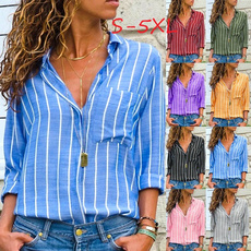 Deep V-Neck, blouse, Fashion, Shirt
