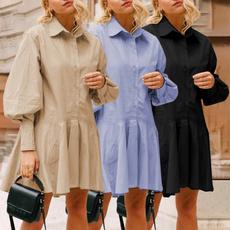 Plus Size, lanternsleevedres, Long Sleeve, Shirt