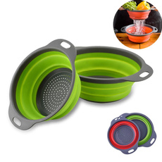 vegetablebasket, siliconefoldablecolander, Kitchen & Dining, fruitsbasket