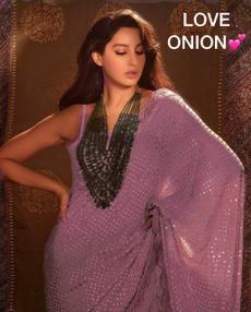 pink, saree, Designers, Lace
