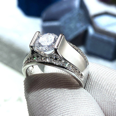 White Gold, Sterling, DIAMOND, 925 silver rings