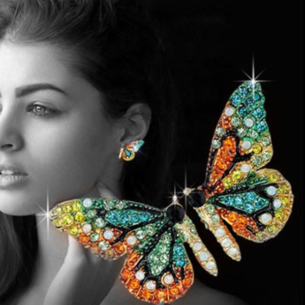 earringsforwoman, butterfly, Hoop Earring, butterfly earrings