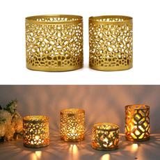 Candleholders, art, Home Decor, golden
