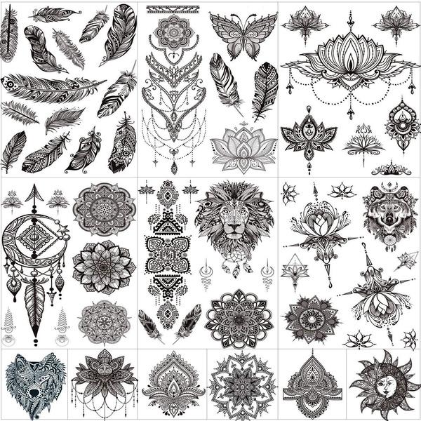 tattoo, Flowers, art, Lace